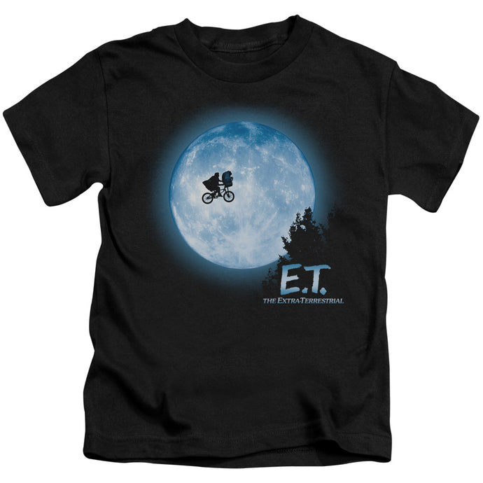 ET the Extra Terrestrial Moon Scene Juvenile Kids Youth T Shirt Black