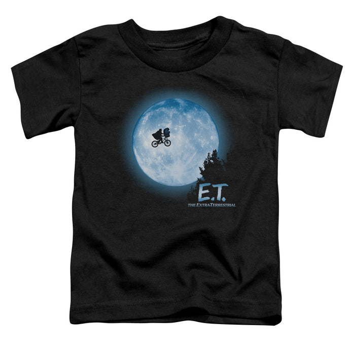 ET the Extra Terrestrial Moon Scene Toddler Kids Youth T Shirt Black