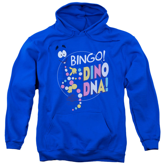 Jurassic Park Bingo Dino DNA Mens Hoodie Royal Blue
