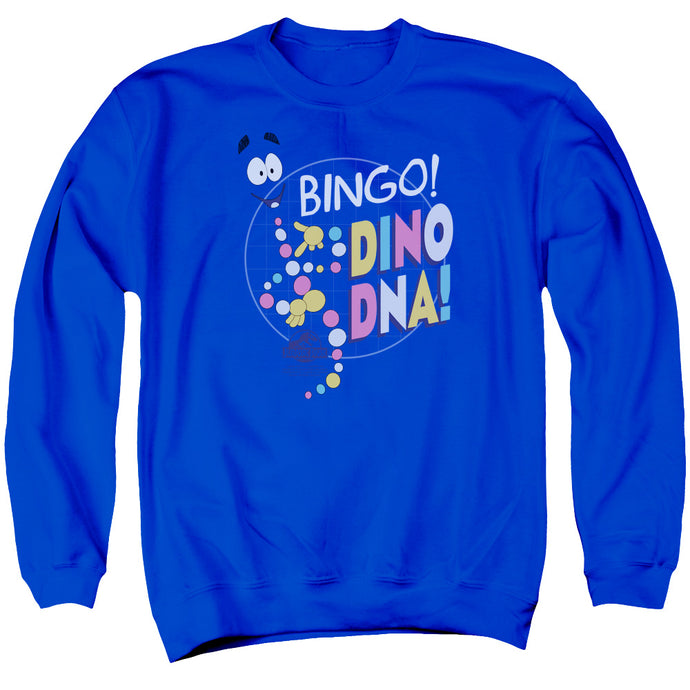 Jurassic Park Bingo Dino DNA Mens Crewneck Sweatshirt Royal Blue