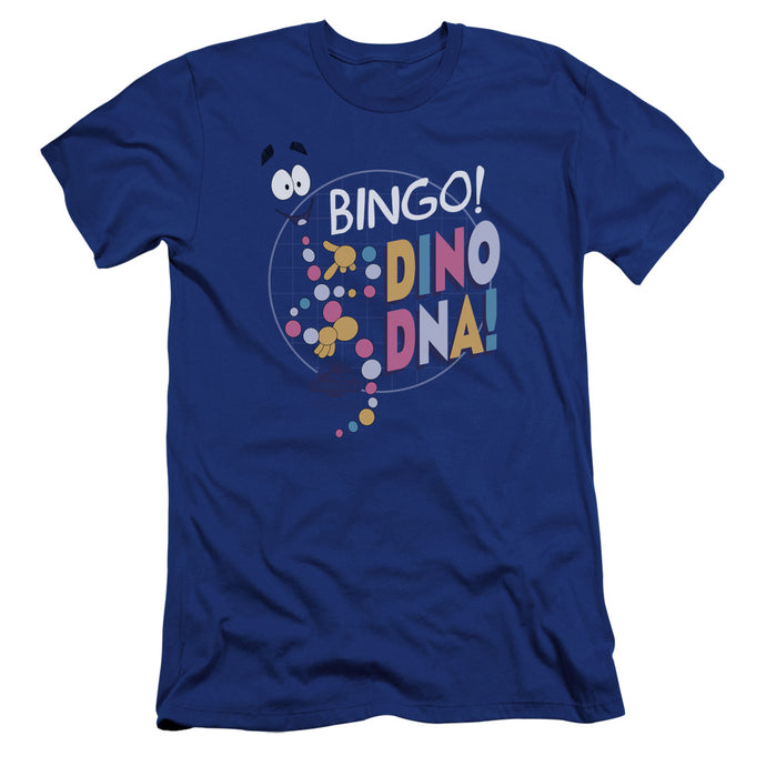 Jurassic Park Bingo Dino DNA Premium Bella Canvas Slim Fit Mens T Shirt Royal Blue