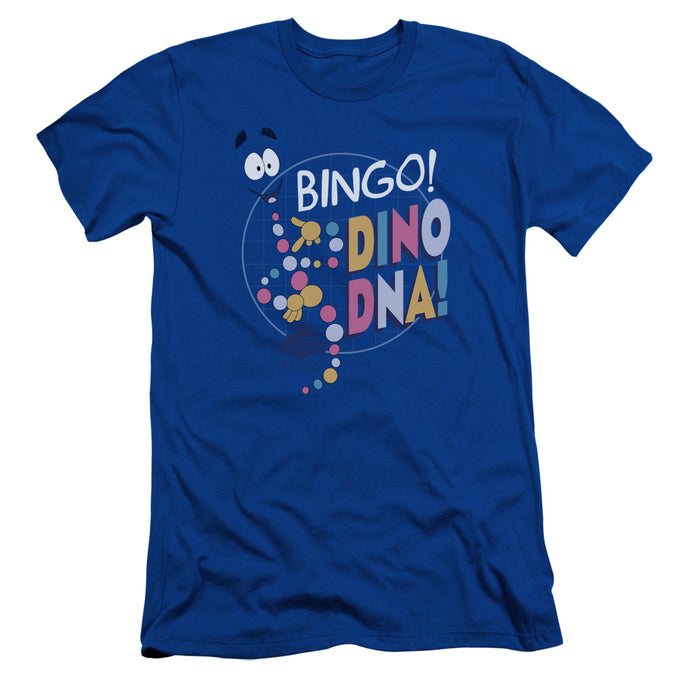 Jurassic Park Bingo Dino DNA Slim Fit Mens T Shirt Royal Blue