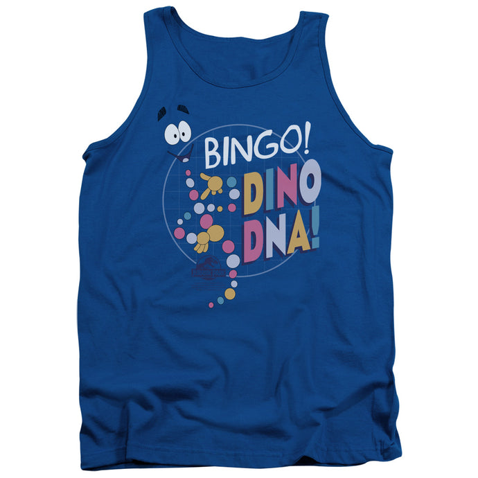Jurassic Park Bingo Dino DNA Mens Tank Top Shirt Royal Blue