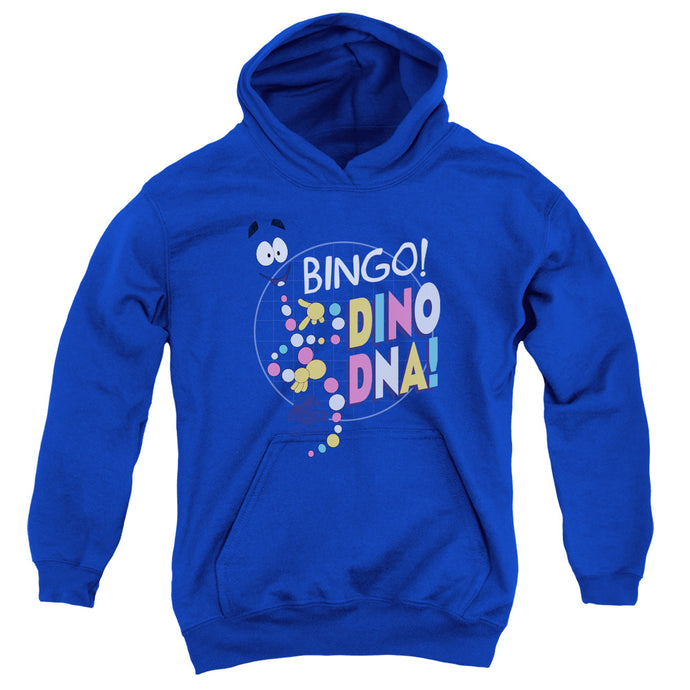 Jurassic Park Bingo Dino DNA Kids Youth Hoodie Royal Blue