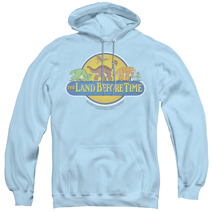 The Land Before Time Dino Breakout Mens Hoodie Light Blue