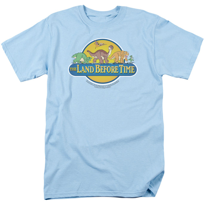 The Land Before Time Dino Breakout Mens T Shirt Light Blue