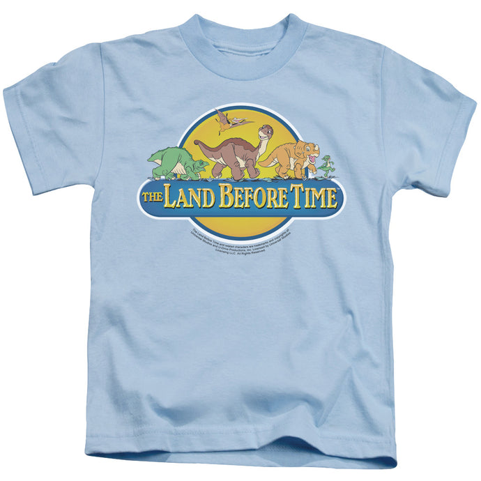 The Land Before Time Dino Breakout Juvenile Kids Youth T Shirt Light Blue