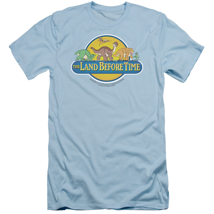 The Land Before Time Dino Breakout Slim Fit Mens T Shirt Light Blue