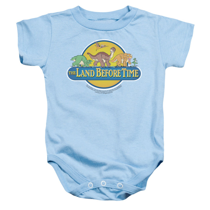 The Land Before Time Dino Breakout Infant Baby Snapsuit Light Blue