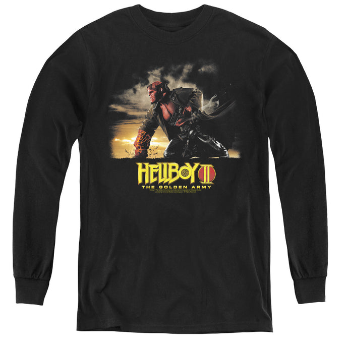 Hellboy II Poster Art Long Sleeve Kids Youth T Shirt Black