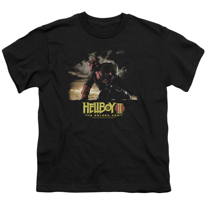 Hellboy II Poster Art Kids Youth T Shirt Black