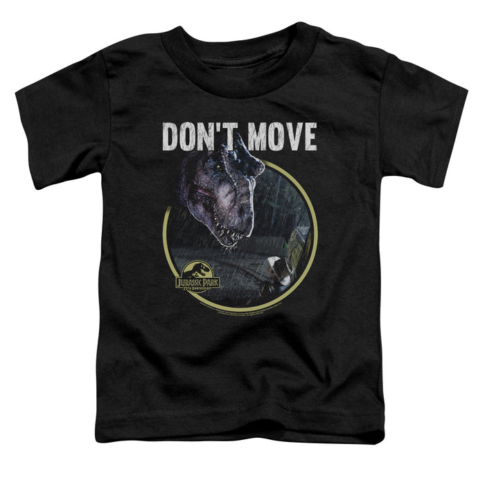 Jurassic Park Dont Move Toddler Kids Youth T Shirt Black