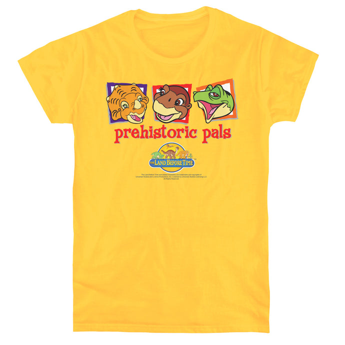 The Land Before Time Prehistoric Pals Womens T Shirt Yellow