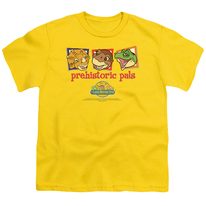 The Land Before Time Prehistoric Pals Kids Youth T Shirt Yellow