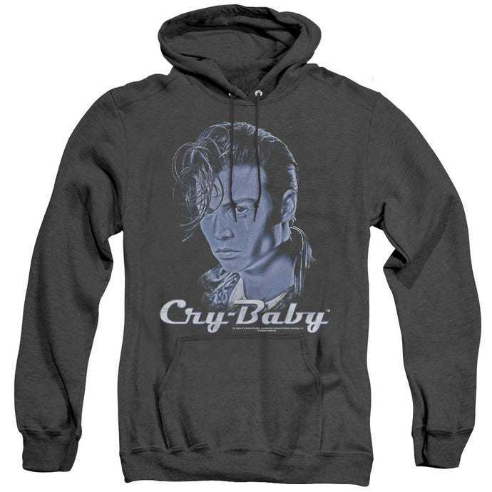 Cry Baby King Cry Baby Heather Mens Hoodie Black