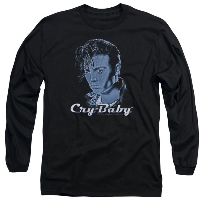 Cry Baby King Cry Baby Mens Long Sleeve Shirt Black