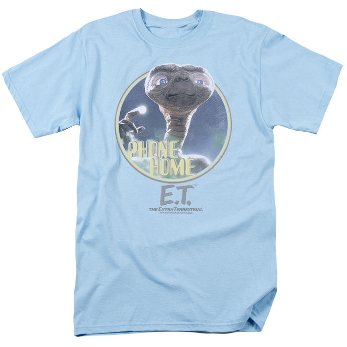 ET the Extra Terrestrial Phone Home Mens T Shirt Light Blue