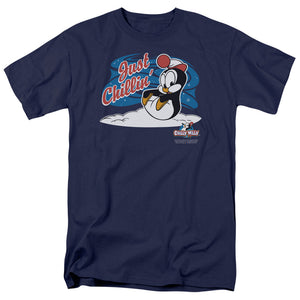Chilly Willy Just Chillin Mens T Shirt Navy Blue