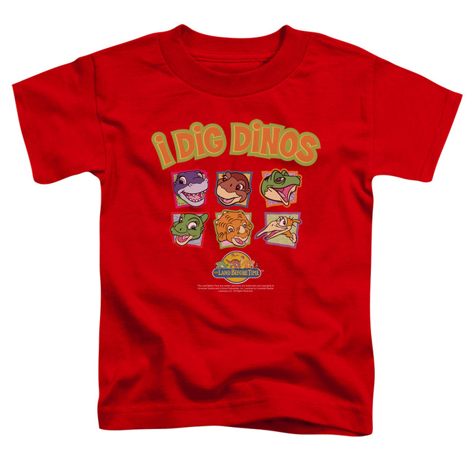 The Land Before Time I Dig Dinos Toddler Kids Youth T Shirt Red