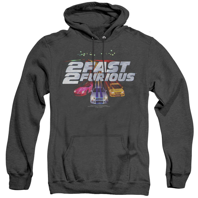 2 Fast 2 Furious Logo Heather Mens Hoodie Black