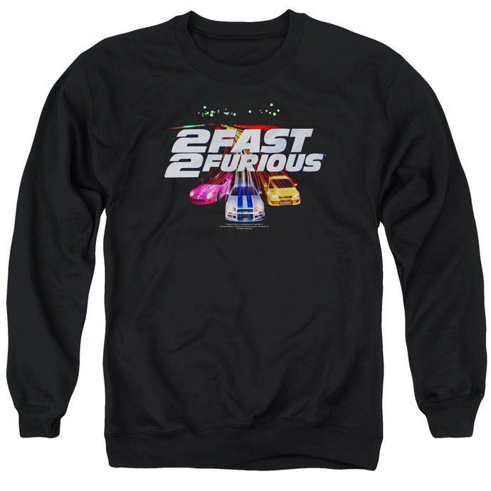 2 Fast 2 Furious Logo Mens Crewneck Sweatshirt Black