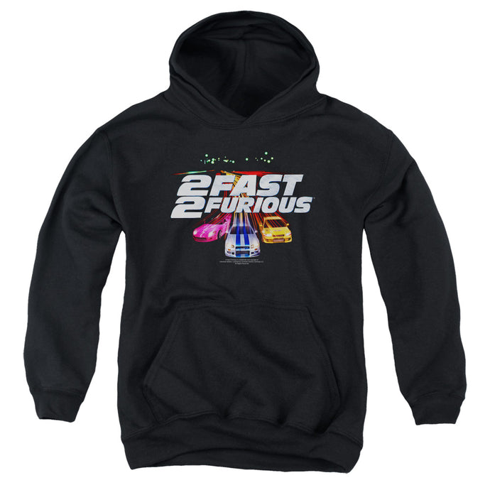 2 Fast 2 Furious Logo Kids Youth Hoodie Black