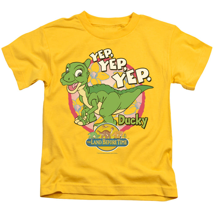 The Land Before Time Ducky Juvenile Kids Youth T Shirt Yellow