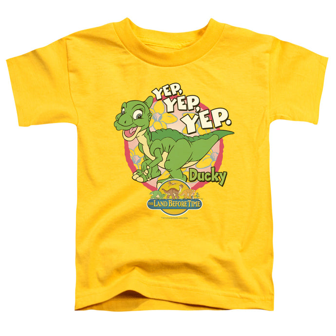 The Land Before Time Ducky Toddler Kids Youth T Shirt Yellow