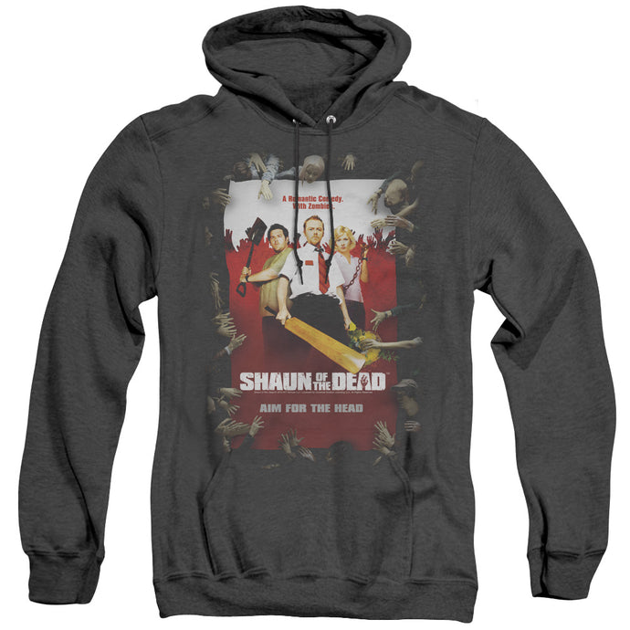 Shaun Of The Dead Poster Heather Mens Hoodie Black