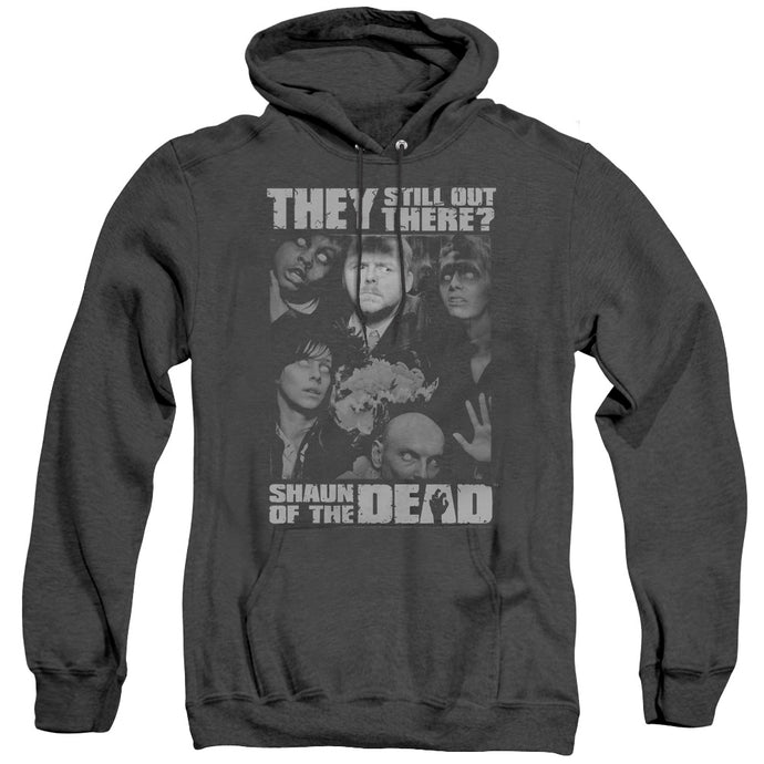 Shaun Of The Dead Still Out There Heather Mens Hoodie Black