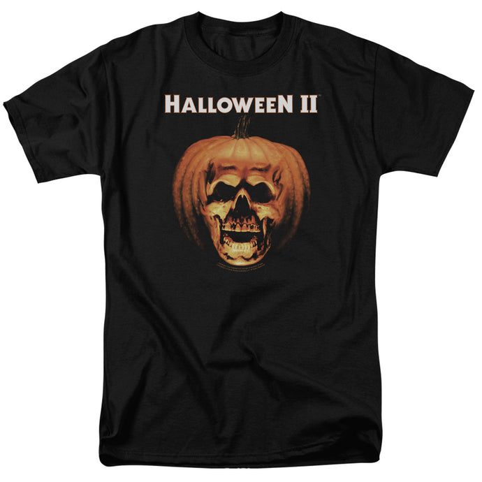 Halloween II Pumpkin Shell Mens T Shirt Black