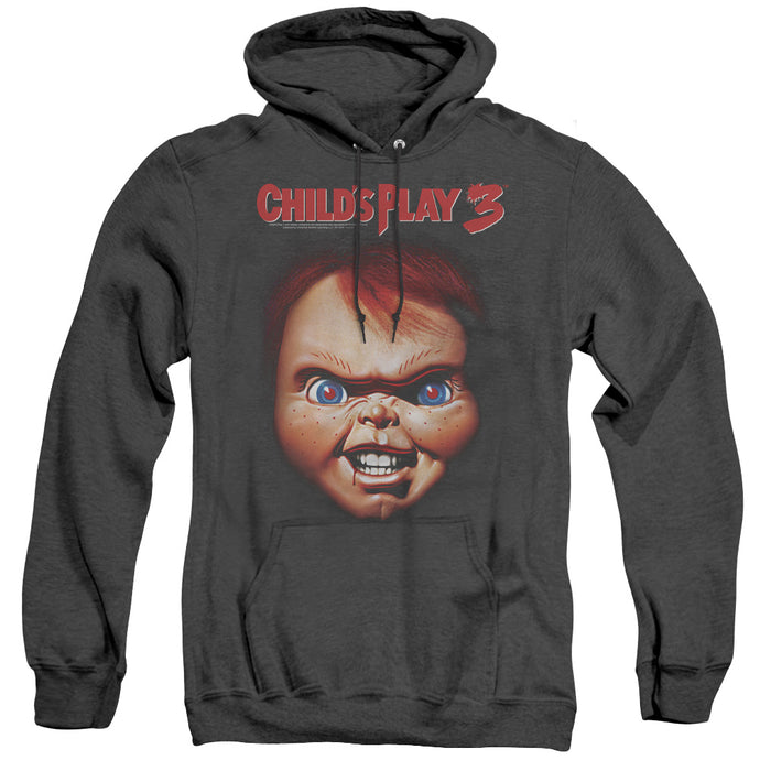 Childs Play 3 Chucky Heather Mens Hoodie Black