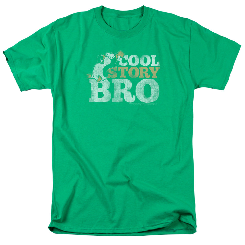 Chilly Willy Cool Story Mens T Shirt Kelly Green