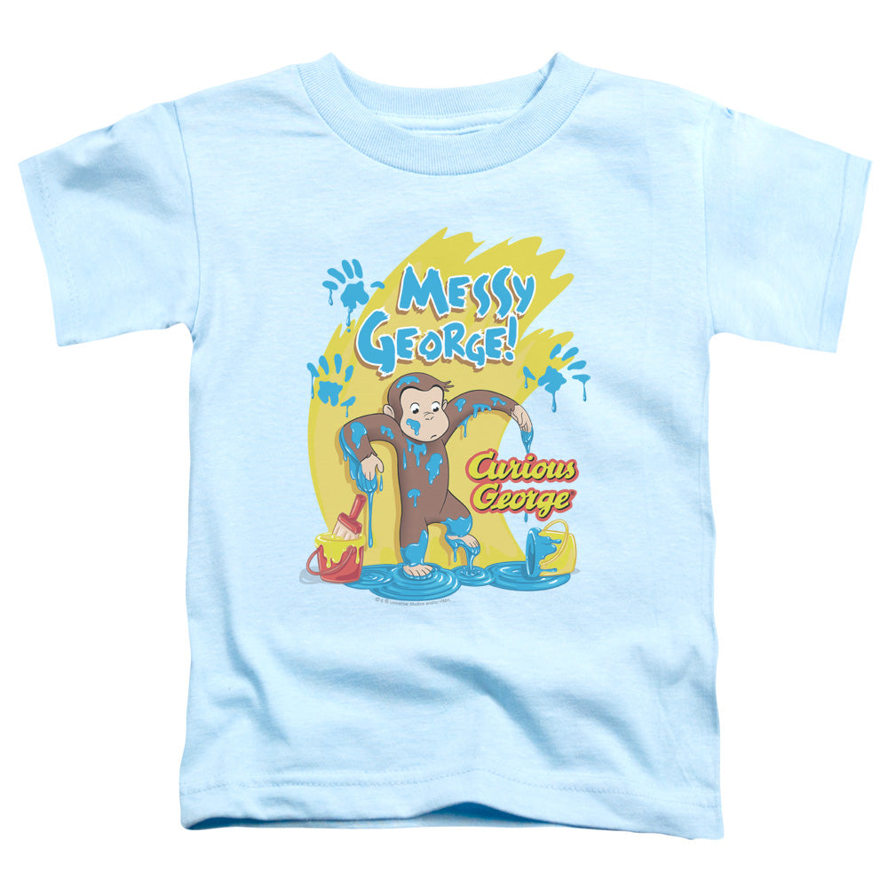 Curious George Messy George Toddler Kids Youth T Shirt Light Blue Light Blue