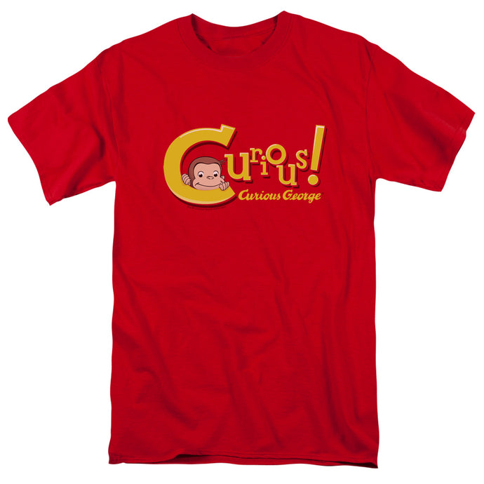 Curious George Curious Mens T Shirt Red