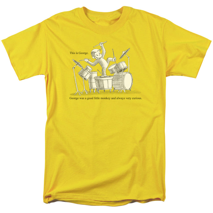 Curious George This Is George Mens T Shirt Yellow