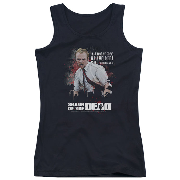 Shaun Of The Dead Hero Must Rise Womens Tank Top Shirt Black
