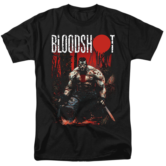 Bloodshot Welcome To The Jungle Mens T Shirt Black