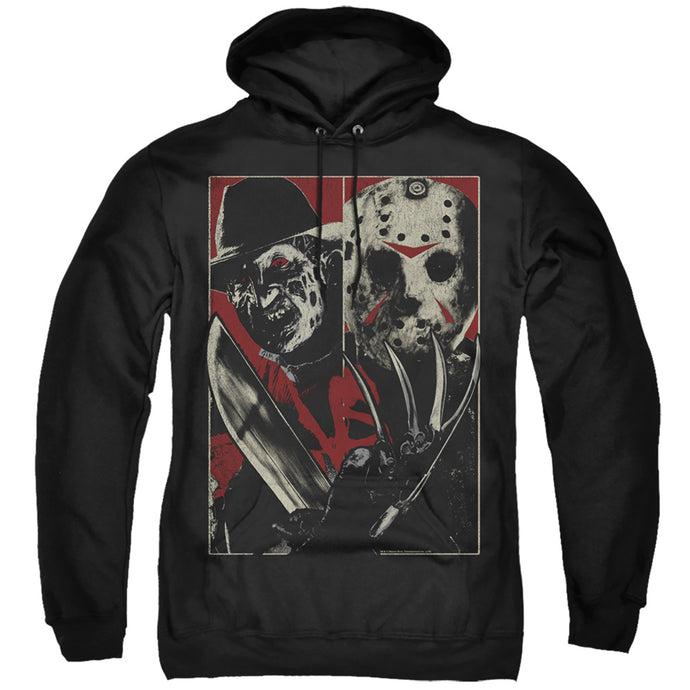 Freddy Vs Jason Vs Mens Hoodie Black