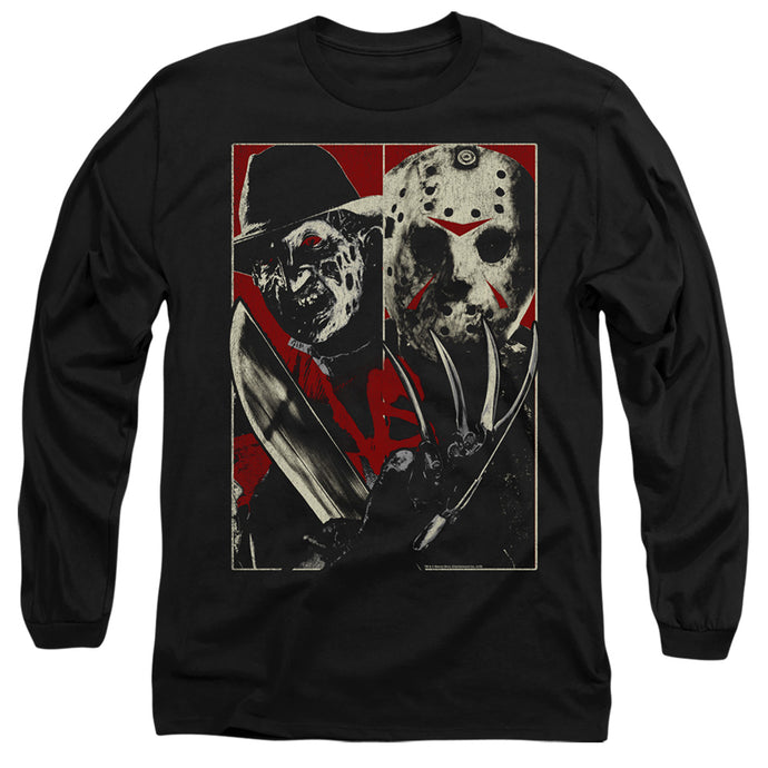 Freddy Vs Jason Vs Mens Long Sleeve Shirt Black