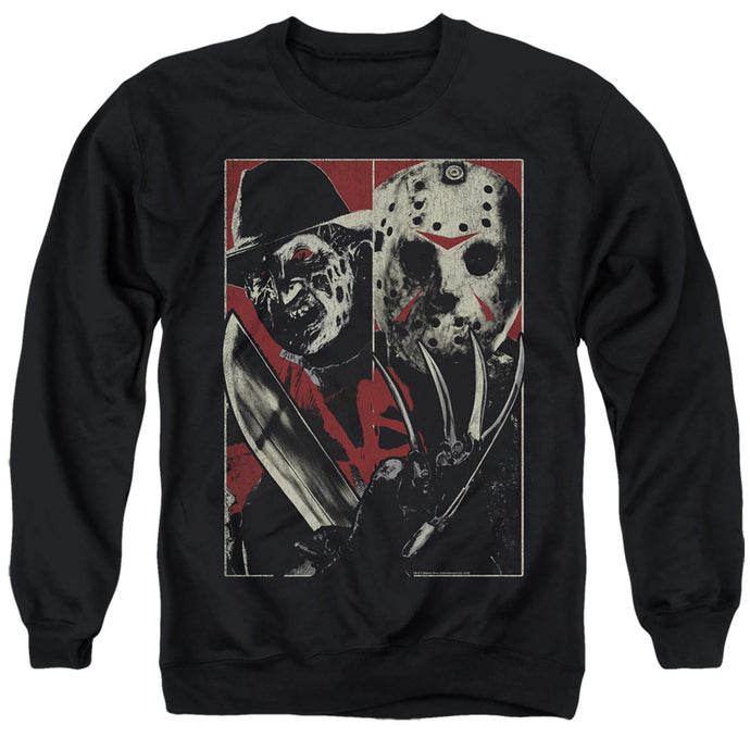 Freddy Vs Jason Vs Mens Crewneck Sweatshirt Black