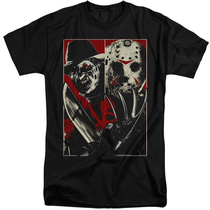 Freddy Vs Jason Vs Mens Tall T Shirt Black