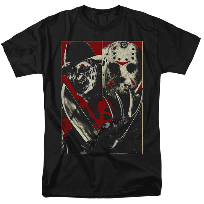 Freddy Vs Jason Vs Mens T Shirt Black
