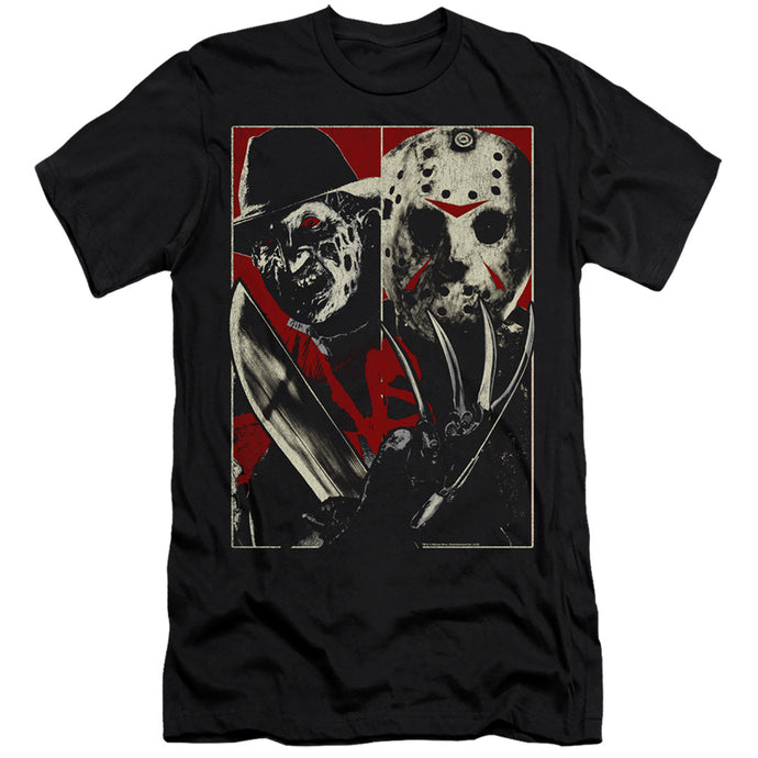 Freddy Vs Jason Vs Premium Bella Canvas Slim Fit Mens T Shirt Black