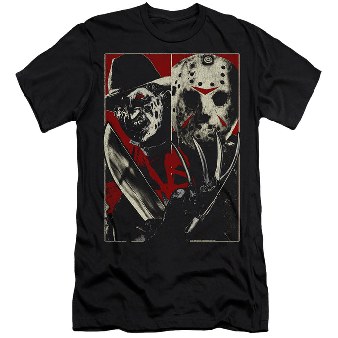 Freddy Vs Jason Vs Slim Fit Mens T Shirt Black