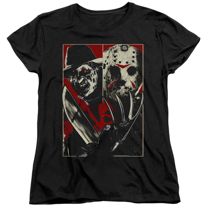 Freddy Vs Jason Vs Womens T Shirt Black