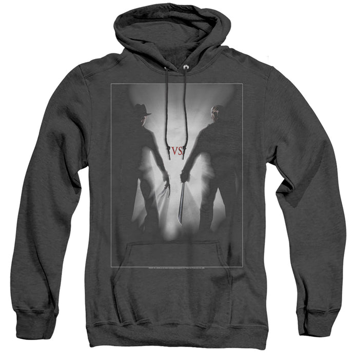 Freddy Vs Jason Silhouettes Heather Mens Hoodie Black