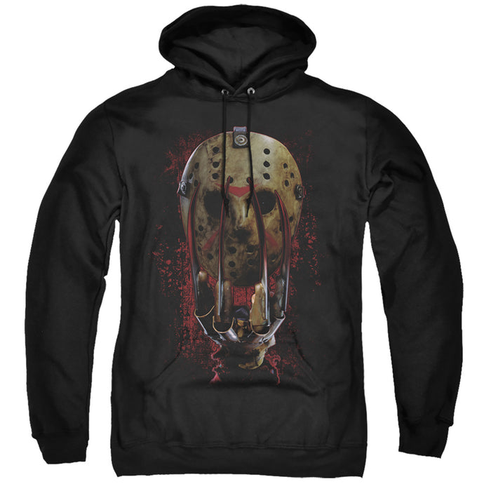 Freddy Vs Jason Mask And Claws Mens Hoodie Black