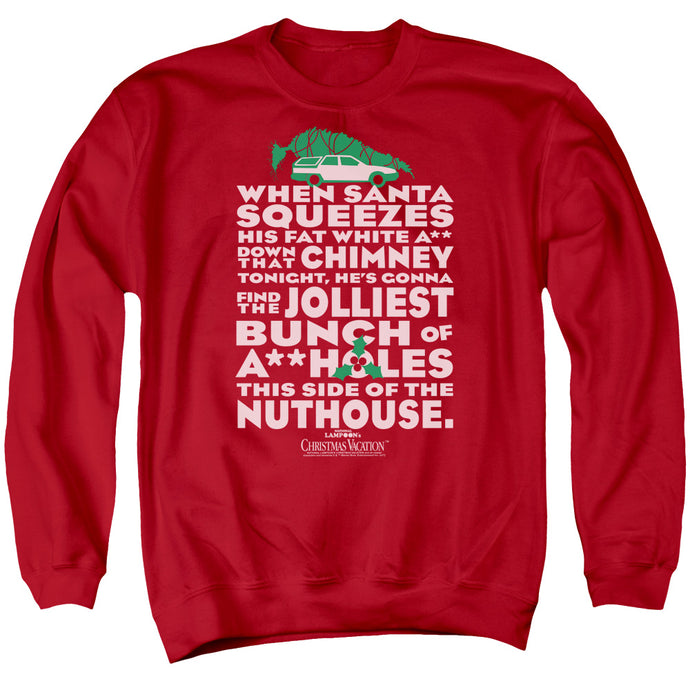 Christmas Vacation Jolliest Bunch Mens Crewneck Sweatshirt Red