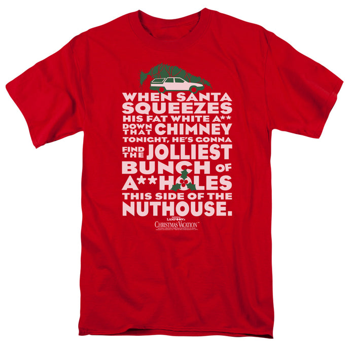 Christmas Vacation Jolliest Bunch Mens T Shirt Red